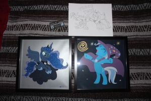 Luna And Trixie Shadowboxes by ShadowRunner27