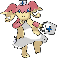 Pokemon OC: Nurse Audrey by OmegaCrafter17