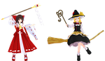[MMD] Gensokyo Main Incident Resolvers by Totalheartsboy