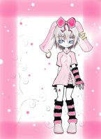 Bunny Girl in Pink Snow Garden by KIKYLEE