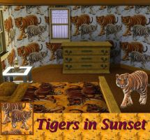 Tigers in Sunset by allison731