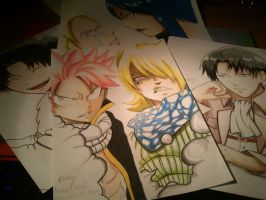 Latest Fanart~Shingeki no Kyojin and Fairy Tail by haru4lavi