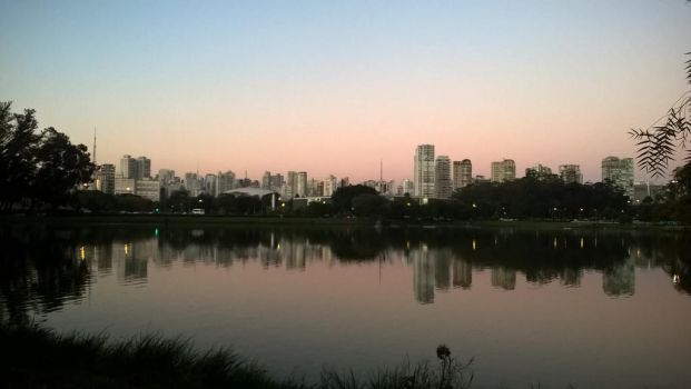 Sao Paulo _ The City's Skyline at the Winter by Rafagafanhotobra