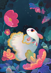 Flower guppy by pikaole