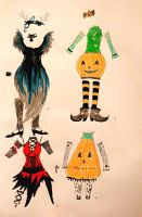 Second Halloween Costume Adoptables by chaosqueen122