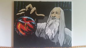 Saruman- Christopher Lee- Lord of the Rings by MintBlueRockets