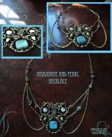 Amazonite and Pearl Necklace by tanyquil