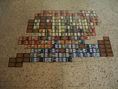 8 bit mario Mosaic with cards by NonoKraken