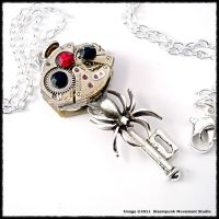 Steampunk Black Widow Key by SoulCatcher06