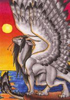 ACEO- Feathered Mist by Sky-Shifter