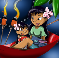 lilo and nani by queenmafdet