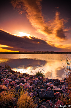 Sunrise Over Lake Ladora by kkart