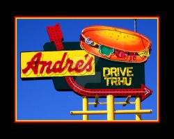 Andre's Drive In Sign by houstonryan