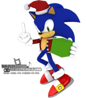 Christmas Sonic 3D render by marvinvalentin07