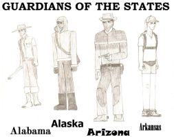 Guardians of the States - Alabama to Arkansas by BlackMagicProduction