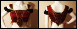 Snow Red Bodice by Mink-the-Satyr