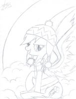 Rainbowdash -uncoloured- by AbyssFantasies
