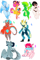 ALL THE CUSTOM ADOPTS!! by The-Purple-Room