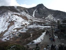 Hakone Active volcano Japan by chaobreeder16