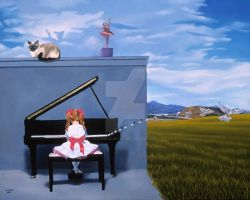 The Piano Player by surrealartist