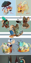 A Variety Of Mice Art by VonHollde