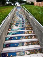 Cosmic Stairs 3 by DocNougat