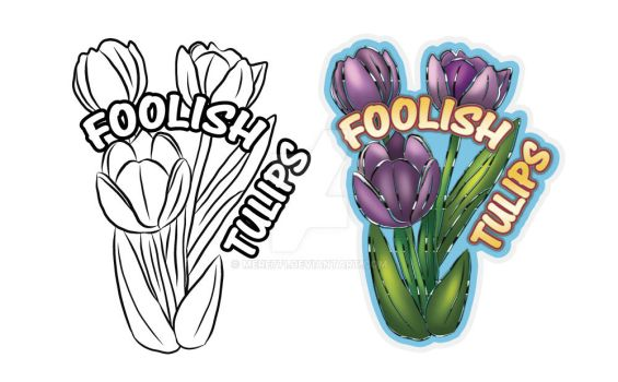 Beforeandafter Foolish Tulips Sticker by Mere771