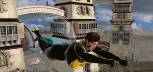 Giantess WASP flying with friends by Big-ELSA