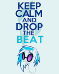 Keep Calm and Drop the Beat by thegoldfox21