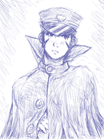 Raidou Kuzunoha Sketch by Alyossan