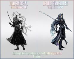 Sephiroth design on Dissidia by Arc-Ecclesia