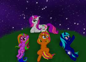 Star Gazing -Art Trade- by TaylorRose16