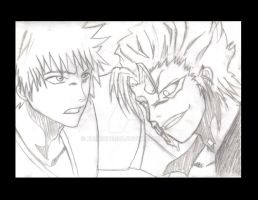 Ichigo VS Grimmjow by kurocherub