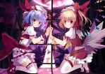 Remilia and Flandre by xephonia