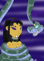 Kaa and Blackfire Painted by lol20
