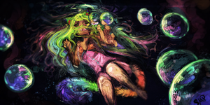 Drowning in colors [Nyan Cat] by Scorched-FoxFire