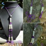 Purple Clover Knot Necklace by RebeccaMArt