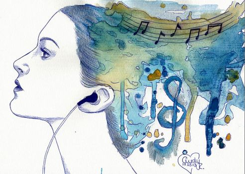 Watercolour Music by Cindy-R