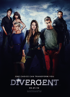 Divergent Movie Poster by machiee