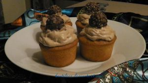 ferrero and nutella cupcakes by BentoLove