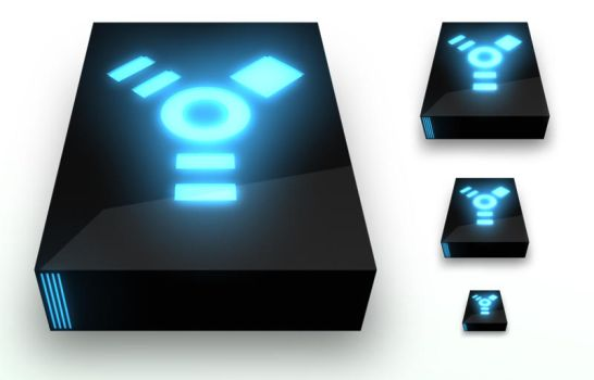 Firewire Drive Black PNG by madFusion15