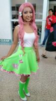 Fluttershy Equestria Girl Cosplay Anime Expo 2015 by Eri-nyan