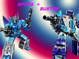 Hydra and Buster by Klunker-Decepticon