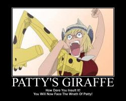 Patty's Giraffe by Puglover24