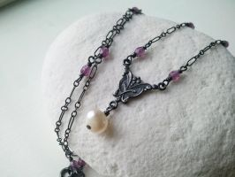 Victorian Oxidized- Amethyst Czech Glass by QuintessentialArts