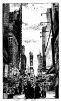 Times Square in November by RoodyN
