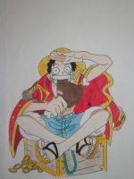 Luffy pirate king by ModelingElf