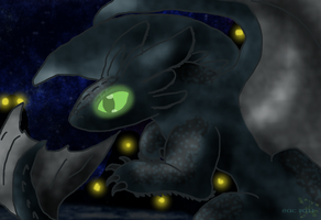 HTTYD-Night Fury by rosa-pegasus