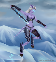 Draenei DK by Silent-fly