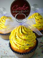 Sprinkles in Yellow frosting by CreativeAbubot